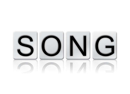 choral: The word Song written in tile letters isolated on a white background.