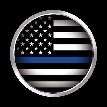 アメリカの国旗アイコン法執行機関は、フラグをサポートします。ベクター EPS 10 利用できます。