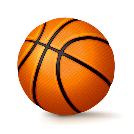 photo realism: A realistic basketball illustration isolated on a white background. Vector EPS 10 available.