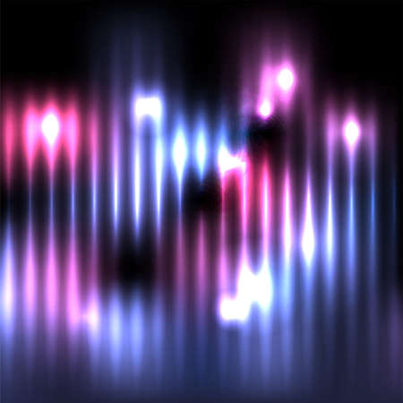 An abstract vertical column of blue and pink glowing lights against a dark background illustration. Vector EPS 10 available. Иллюстрация