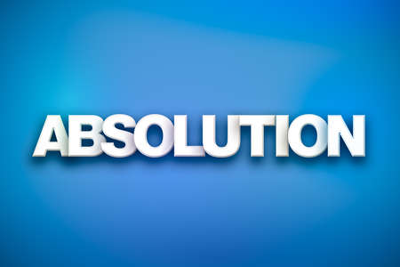 The word Absolution concept written in white type on a colorful background. Stock Photo