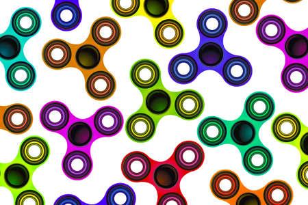 Een achtergrond van fidget spinner focus speelgoed illustratie.