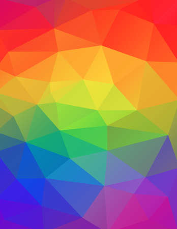 A geometric abstract background in rainbow colors illustration. Vector EPS 10 available. Ilustracja