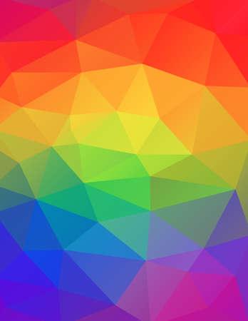 Een geometrische abstracte achtergrond in regenboogkleurenillustratie. Vector EPS 10 beschikbaar. Stock Illustratie