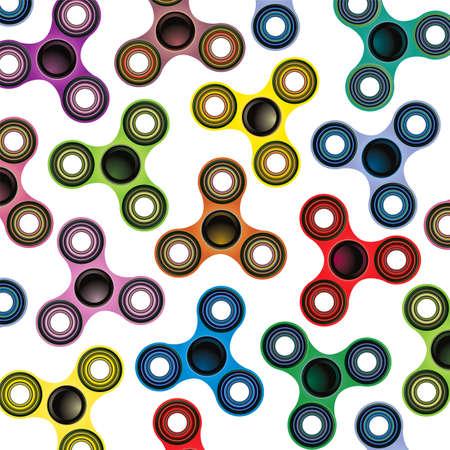 Een achtergrond van fidget spinner focus speelgoed illustratie geïsoleerd op wit.