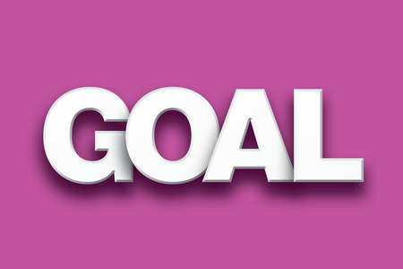 The word Goal concept written in white type on a colorful background. Stock Photo