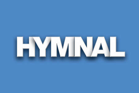 The word Hymnal concept written in white type on a colorful background. Stock Photo