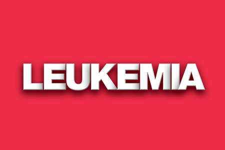 The word Leukemia concept written in white type on a colorful background. Banco de Imagens