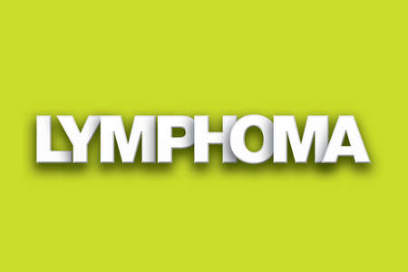 tumors: The word Lymphoma concept written in white type on a colorful background.