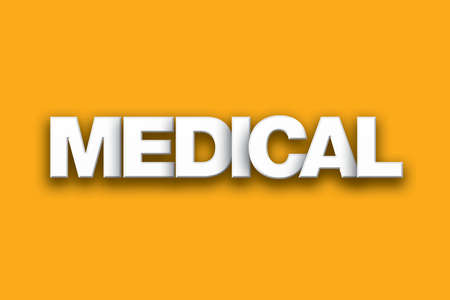 The word Medical concept written in white type on a colorful background.