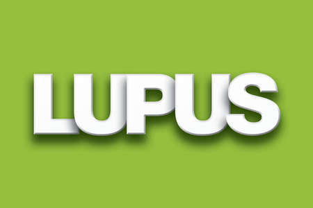 The word Lupus concept written in white type on a colorful background. Stock Photo