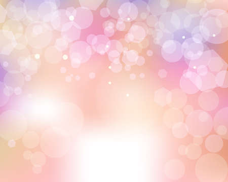 A soft abstract bokeh of feminine colored lights background illustration. Vector EPS 10 available.