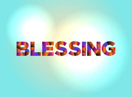 カラフルで抽象的な言葉の芸術で書かれた言葉の祝福。