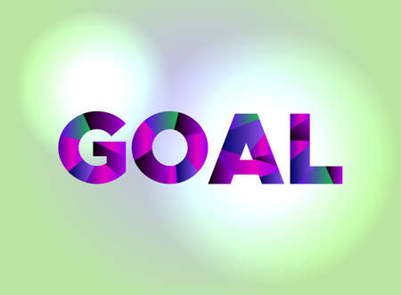 The word GOAL written in colorful abstract word art.