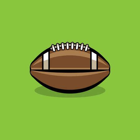 An American football illustration icon. Illustration