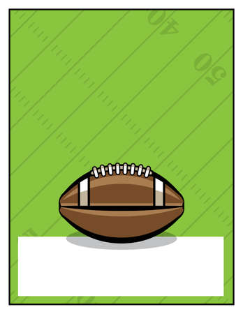 A template for an American football.
