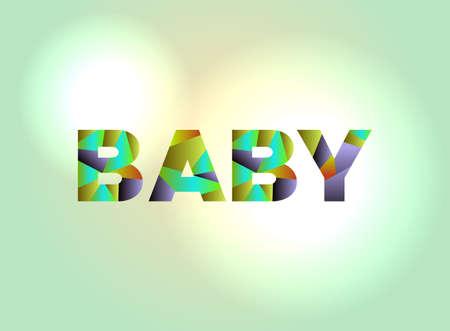 아기 다채로운 추상 word 아트로 작성합니다.