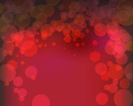 An abstract bokeh of lights on a red illustration.
