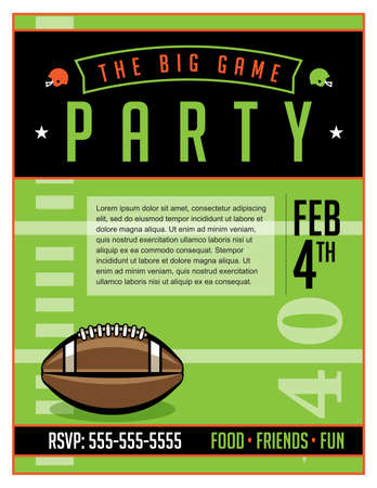 An American football party flyer template illustration. Vector EPS 10 available. Illustration