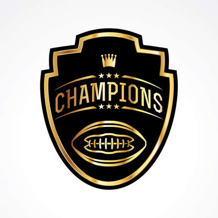 An American football badge emblem champions illustration. Vector EPS 10 available. Ilustrace