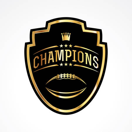 American football badge emblem champions illustration. Ilustrace