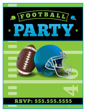 American football party template illustration. Illustration