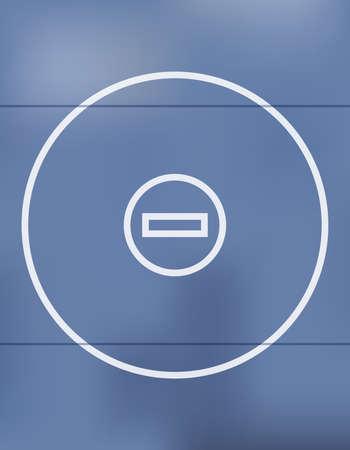 Een blauwe het worstelen mat achtergrondillustratie.