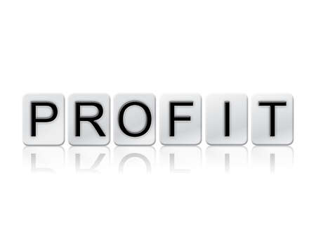 The word Profit concept and theme written in white tiles and isolated on a white background. Reklamní fotografie