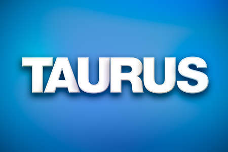 The word Taurus concept written in white type on a colorful background. Stock Photo