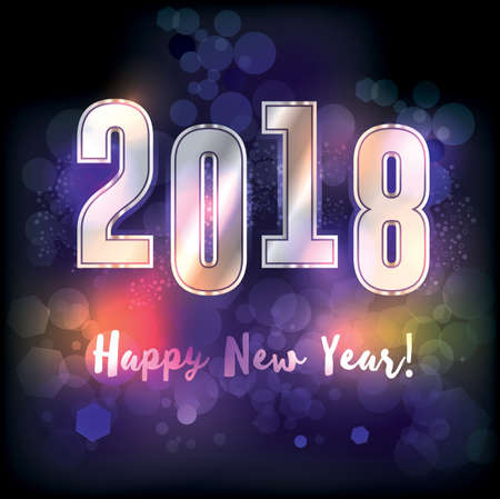 A happy new year 2018 New Years message illustration. Vector EPS 10 available. Illustration