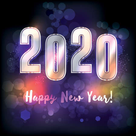 A happy new year 2020 New Years message illustration. Vector EPS 10 available.