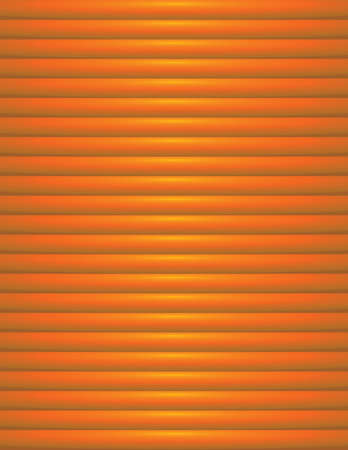 An orange background of ribbed orange stripes with yellow light illustration. Vector EPS 10 available.