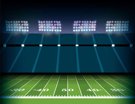 Ilustracja tło boisko i stadion futbolu amerykańskiego.