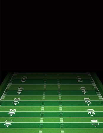 An American football field background with room for copy. Illustration