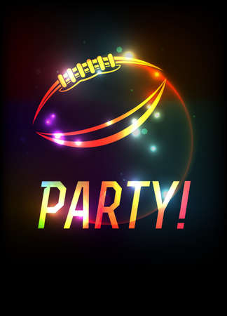 An American Football party theme template background illustration. Vector EPS 10 available.