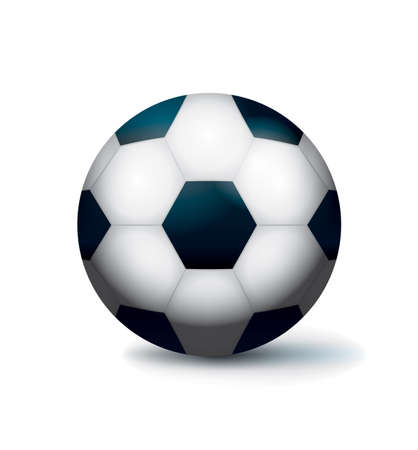 An isolated soccer ball football on a white background illustration.