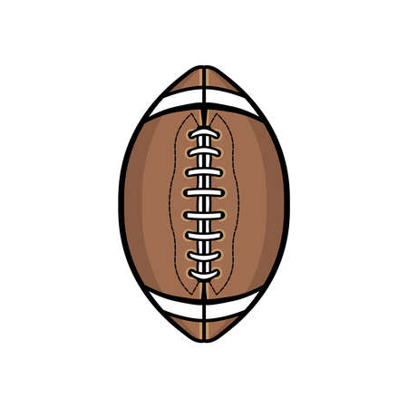 An American football ball isolated on a white background illustration.