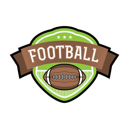 An emblem or badge for American football illustration. Vector available.