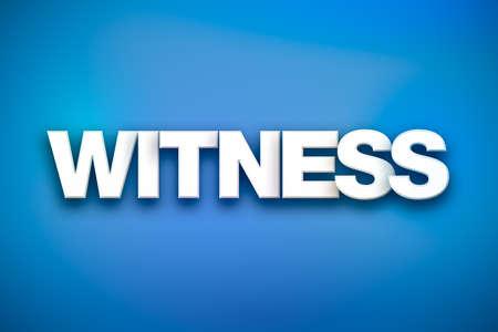 Il concetto di testimone parola scritto in tipo bianco su uno sfondo colorato. Archivio Fotografico - 93786168