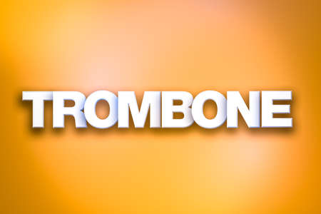 The word Trombone concept written in white type on a colorful background.