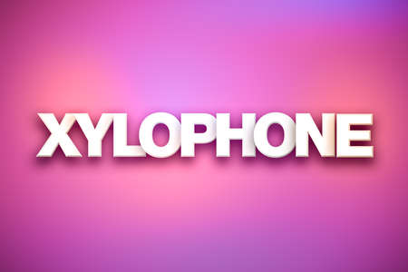 The word Xylophone concept written in white type on a colorful background.