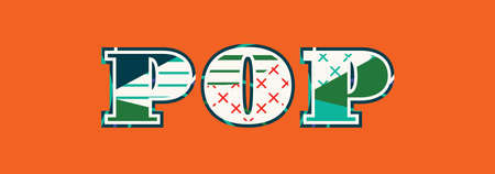 The word POP concept written in colorful abstract typography. Vector EPS 10 available.