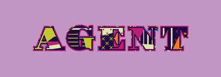 The word AGENT concept written in colorful abstract typography. Vector EPS 10 available.