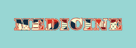 The word MEDICINE concept written in colorful abstract typography. Vector EPS 10 available. Illustration
