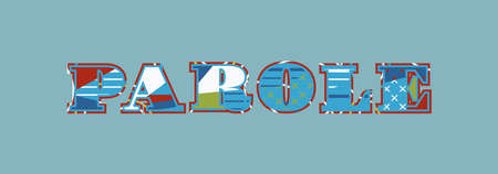 The word PAROLE concept written in colorful abstract typography. Vector EPS 10 available.