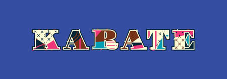 The word KARATE concept written in colorful abstract typography. Vector EPS 10 available. Stok Fotoğraf - 100397465