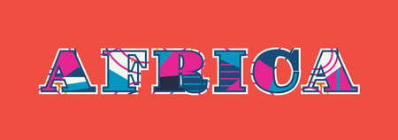 The word AFRICA concept written in colorful abstract typography. Vector EPS 10 available.