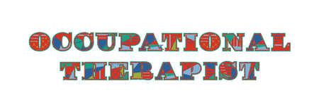 Las palabras escritas a mano concepto de diagnóstico en resumen de vectores de colores relacionados con la ilustración gráfica eps 10 Foto de archivo - 101028241