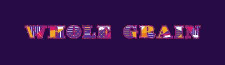 Les mots entiers notion de grain écrit dans la conception abstraite colorée . vector eps 10 Banque d'images - 101028266