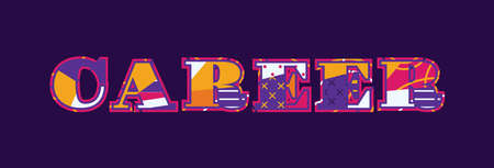 The word CAREER concept written in colorful abstract typography. Vector EPS 10 available.